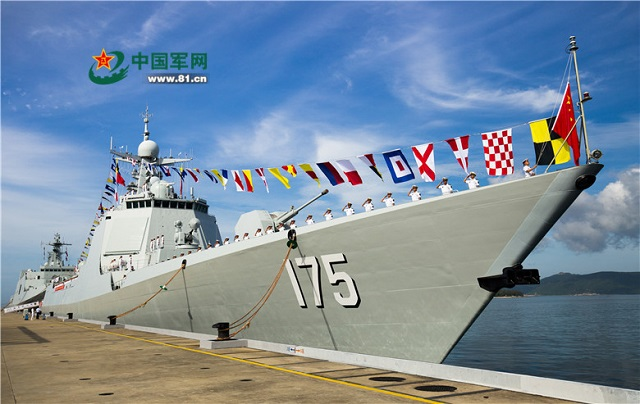 According to the People's Liberation Army Navy (PLAN or Chinese Navy) the fourth Type 052D (NATO reporting name Luyang III class) destroyer Yinchuan (hull number 175), was just commissioned on July 12 with China's South Sea Fleet. The vessel is now homeported at Yulin Naval Base located in the Yalong Bay (city of Sanya) on Hainan island.