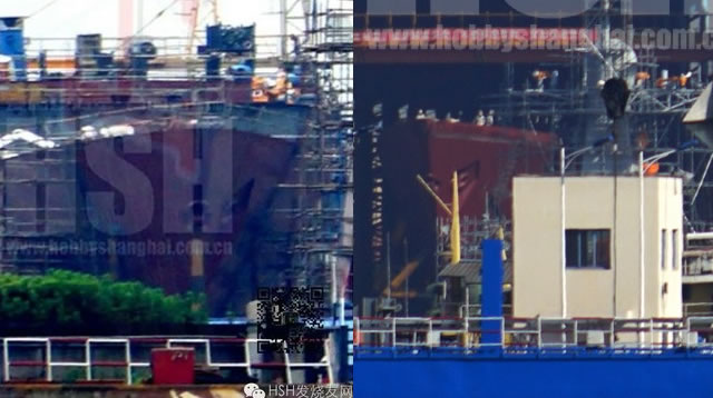 Interesting pictures have emerged from China showing what could well be the first construction blocks of the People's Liberation Army Navy (PLAN or Chinese Navy) future Type 055 Guided-Missile Destroyer (DDG).