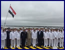 On June 2nd, 2016, DCNS delivered the first of two helicopter carriers acquired by the Arab Republic of Egypt in October 2015, the LHD Gamal Abdel Nasser. The flag transfer ceremony took place in the presence ofEgyptian and French Navies' Chiefs of Staff, Admiral Rabie and Admiral Rogel, Hervé Guillou, Chairman and Chief Executive Officer of DCNS, Laurent Castaing, Chairman and Chief Executive Officerof STX France, and senior Egyptian and French officials. By 2020, DCNS will have supplied at least seven combat vessels to Egypt, thus contributing to the modernisation of the Arab Republic of Egypt's defence system. .