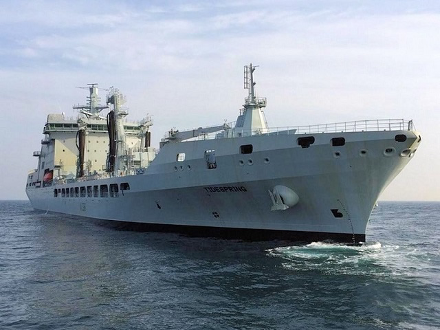 A picture was released this week showing the future RFA Tidespring, the first of four new MARS (Military Afloat Reach and Sustainability) tankers in builder sea trials off South Korea with Daewoo Shipbuilding and Marine Engineering (DSME). The tanker is expected in Falmouth, UK, later this year for military customisation.