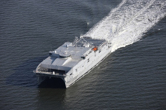 The U.S. Navy accepted delivery of USNS Carson City (EPF 7) during a ceremony in Mobile, June 24. The ship, which was constructed by Austal USA, is the seventh ship of the Expeditionary Fast Transport (EPF) class.
