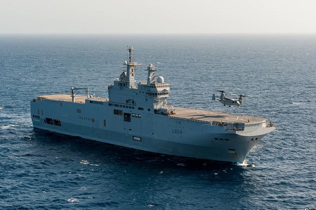 "The French Navy (Marine Nationale) announced that two US Marine Corps V22 Osprey tilt-rotor aircraft a series of ""touch and go"" and refuelling aboard Mistral class LHD Tonnerre on March 29 2016. While V22s have been tested with the Mistral class several times now (they were even officially qualified with the Mistral class last year) it is the first time that a back to back refuelling (with engines running) was performed."