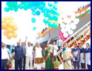 In a new chapter in Indo-Mauritian Defence Co-operation, Mrs Smita Parsekar, wife of Hon'ble Chief Minister Shri Laxmikant Parsekar launched the First Fast Patrol Vessel, MCGS VICTORY (50 meter length) designed and built in house by Goa Shipyard Limited for Mauritius Coast Guard on 29th Feb 2016 at GSL in an impressive ceremony.