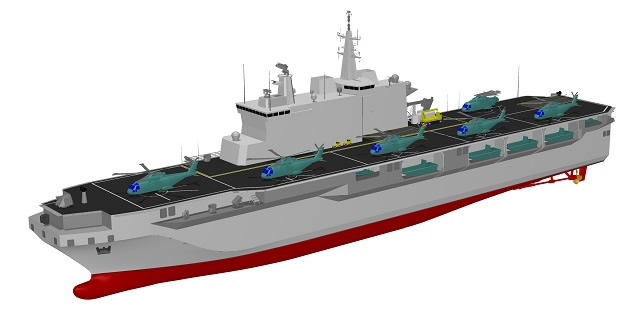 Rolls-Royce has been selected to provide MT30 gas turbines to power a prestigious new multi-purpose amphibious vessel for the Italian Navy, which is an important element of the country's fleet renewal programme. Two MT30 gas turbines will power the new 20,000 tonne displacement Landing Helicopter Deck (LHD) multi-purpose amphibious vessel.