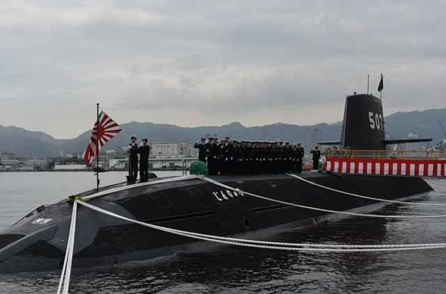 "Mitsubishi Heavy Industries, Ltd. (MHI) delivered the ""Jinryu"" submarine to the Japanese Ministry of Defense (MOD) today in a ceremony held at the MHI Kobe Shipyard & Machinery Works' No.3 pier in Kobe, Hyogo Prefecture. The Jinryu is the seventh Soryu-class submarine supplied to the Japan Maritime Self-Defense Force (JMSDF), and the fourth built by MHI. MHI also built the first Soryu-class submarine, and has produced a total of 26 submarines at the MHI Kobe Shipyard over the last 70 years."