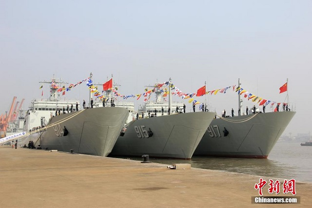 Following the commissioning of Tianmushan in January, three more Type 072A Tank Landing Ships (LST) joined the People's Liberation Army Navy (PLAN or Chinese Navy) on March 7. Named Wuyishan, Culaishan and Wutaishan the LST have joined the PLAN's East Sea Fleet.