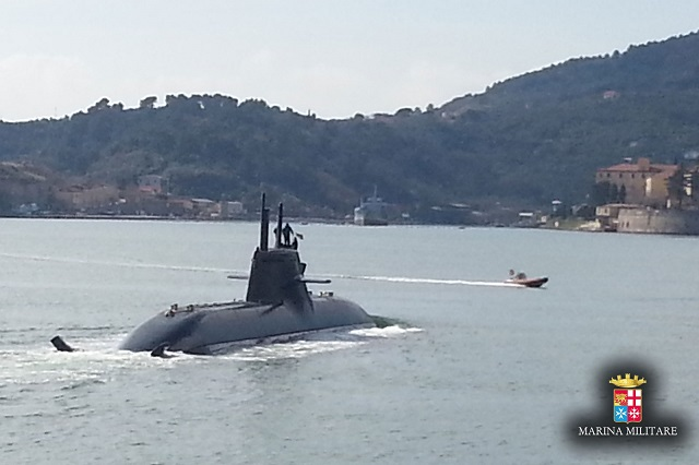 Having successfully completed shore tests and acceptance trials during the construction and outfitting phase, the submarine Romeo Romei started a series of sea trials in the Gulf of La Spezia on March 2.