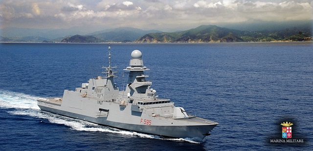 On May 17, ITS Luigi Rizzo cast off at 7.20 a.m. from Fincantieri shipyard in Muggiano (La Spezia) for her first sea outing. This activity marks the beginning of the programme of sea trials which will continue until the completion of the ship's outfitting phase. The FREMM frigate is scheduled to be delivered to the Italian Navy in early 2017.