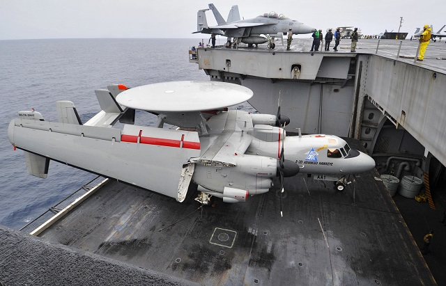 E 2D Advanced Hawkeye elevator USS H Truman