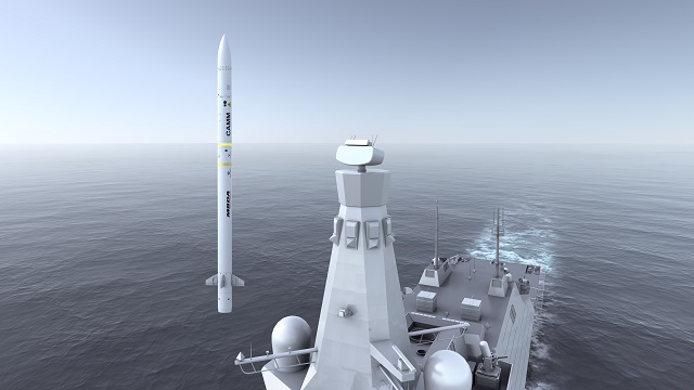 SeaCeptorCAMM launched from Type 26 MBDA UK