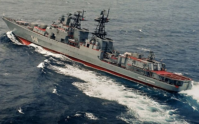 Udaloy 1 class anti submarine destroyer project 1155r fregat russian navy top