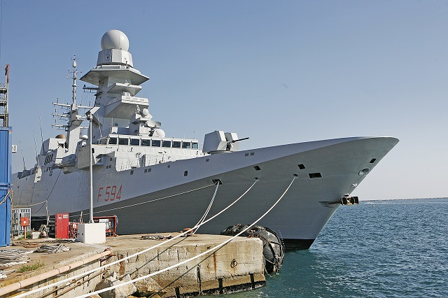 "The frigate ""Alpino"" was delivered today at the Muggiano (La Spezia) shipyard. It is the fifth vessel of the FREMM program - Multi Mission European Frigates - commissioned to Fincantieri within the international Italian-French program, coordinated by OCCAR (the Organisation for Joint Armament Cooperation). Orizzonte Sistemi Navali (51% Fincantieri and 49% Finmeccanica) is the prime contractor for Italy in the FREMM program, which envisions the construction of 10 units, all already ordered."