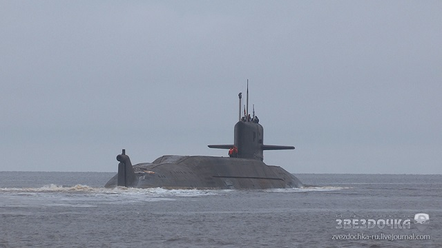 Project 09787 BS 64 Podmoskovye special purpose nuclear powered submarine converted from Project 667BDRM Delta IV class K 64 SSBN 2