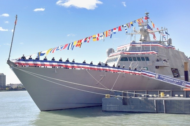 US Navy Commissions Littoral Combat Ship Detroit
