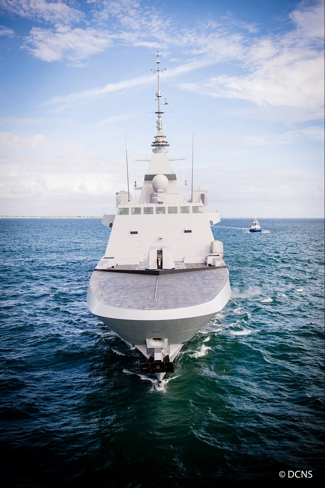 DCNS announced that he French Navy (Marine Nationale)'s FREMM multi-mission frigate Auvergne set sail from the Lorient naval shipyard to begin sea trials on September 26th. The FREMM Auvergne is the sixth frigate in the programme and fourth of the series ordered by OCCAr on behalf of the DGA (the French defence procurement agency) for the French Navy.