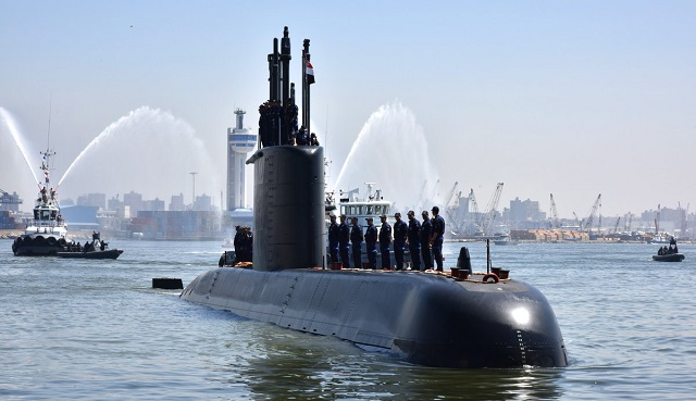 First Egyptian Navy Type 209/1400 Class Submarine built by TKMS Arrived in Egypt