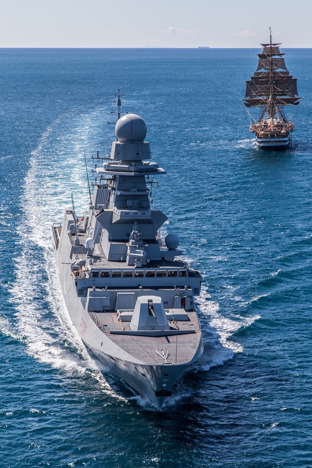 Fincantieri Delivers Second General Purpose FREMM Frigate Rizzo to the Italian Navy