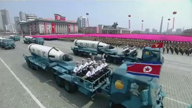 North Korea Displays KN-11 SLBM for the First Time During Military Parade in Pyongyang