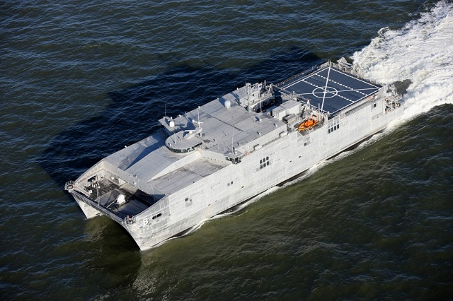 USNS Yuma (EPF 8) has been delivered to the US Navy following a ceremony held at Austal USA's Mobile Alabama shipyard. (Image: Austal)