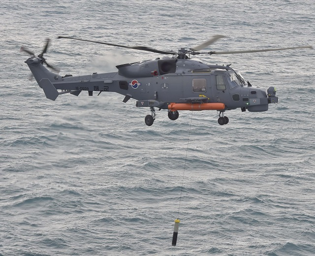 ROK Navy AW159 Wildcat helicopter ASW exercise frigate Gwangju 3