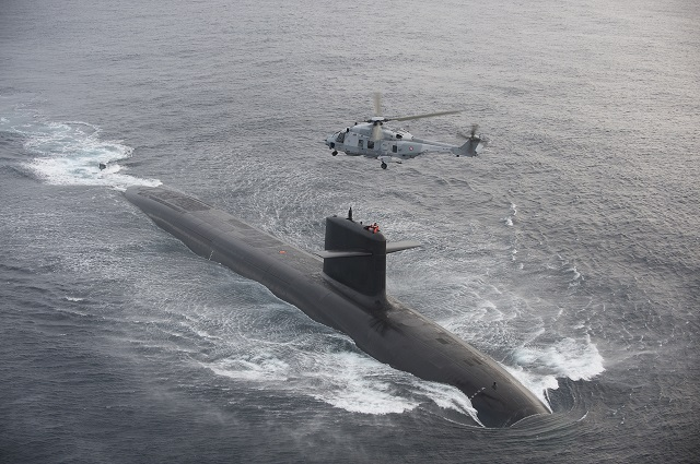 SSBN Le Triomphant SNLE French Navy SSBN NH90