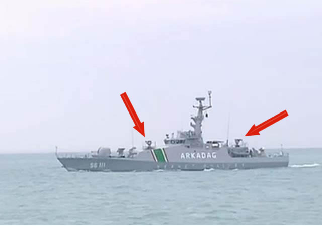 Turkmenistan Coast Guard Patrol Boat SIMBAD RC MBDA 1