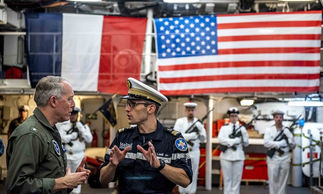 CCSG 2 Visits French Frigate Chevalier Paul