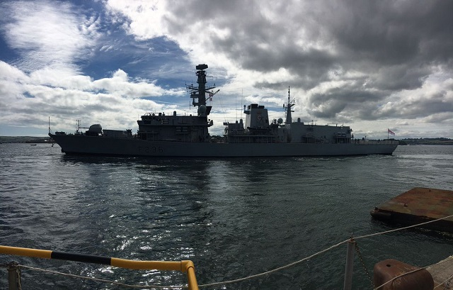 Royal Navy Type 23 Frigate HMS Montrose