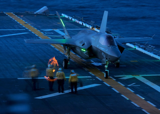 US Navy USMC planning for 1st F 35B shipboard deployment