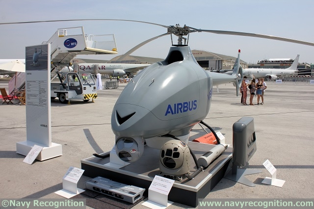 VSR700 VTOL UAV Airbus Helicopters DCNS French Navy Marine Nationale Paris Air Show 2017 1