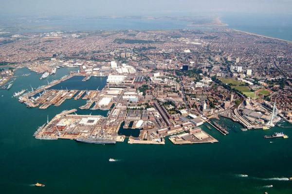Jetty for New Royal Navy Aircraft Carriers Ready at Portsmouth Naval Base 1