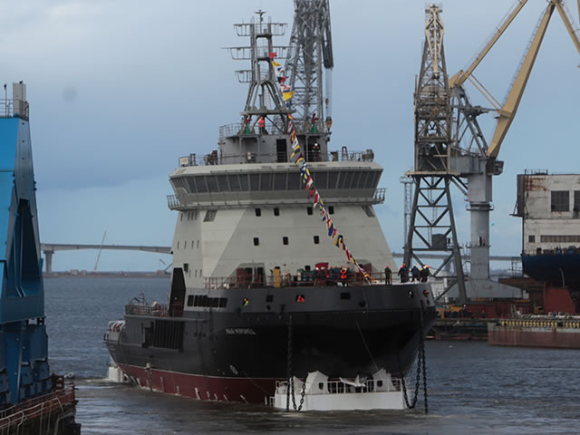 The First Project 21180 Icebreaker Ilya Muromets. Picture: JSC Admiralty Shipyard