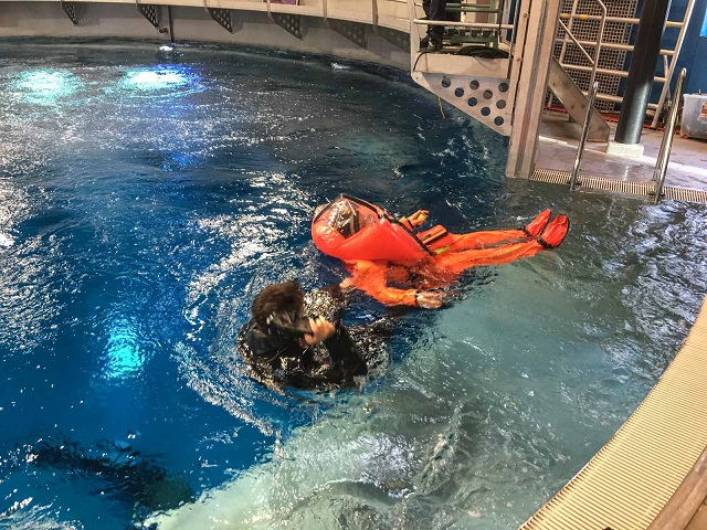 Submarine Escape Training Italian Navy