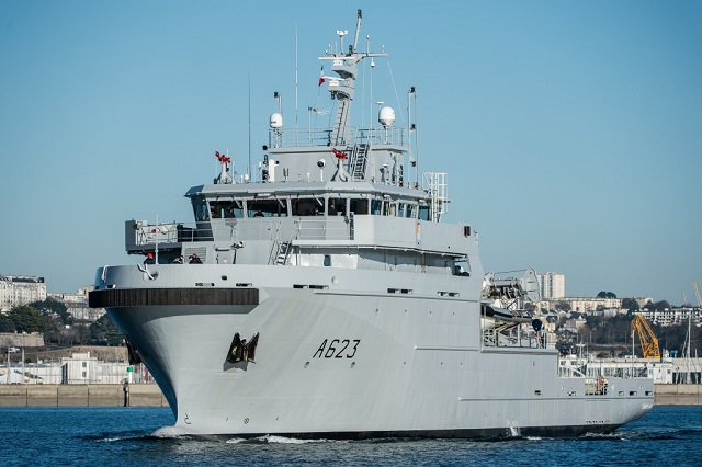 French Navy's Third B2M Vessel Champlain Set Sails for Homeport in the Indian Ocean