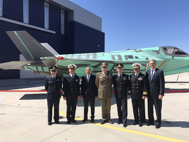 First F-35B STOVL Aircraft for Italian Navy Rolled Out of Italian Production Facility