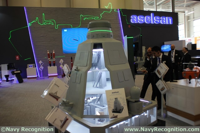 IDEF 2017: ASELSAN Showcasing its ÇAFRAD Phased Array Radar for TF-2000 Frigate