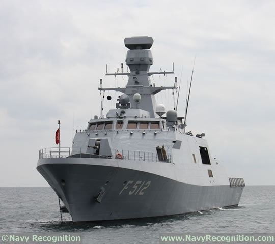 Turkish Navy MILGEM-class Corvette TCG Büyükada is at IDEF 2017
