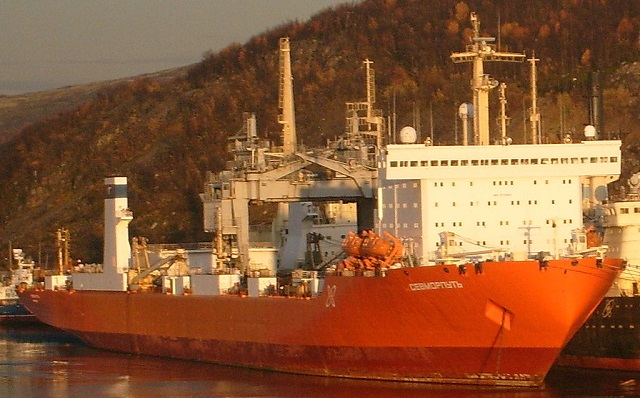 Project 10081 Sevmorput nuclear-powered container carrier