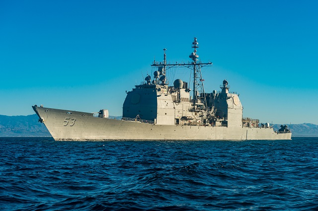 USS Mobile Bay testing updated AEGIS Baseline 9 1