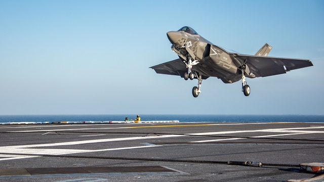 USS Carl Vinson conducts F 35C flight operations