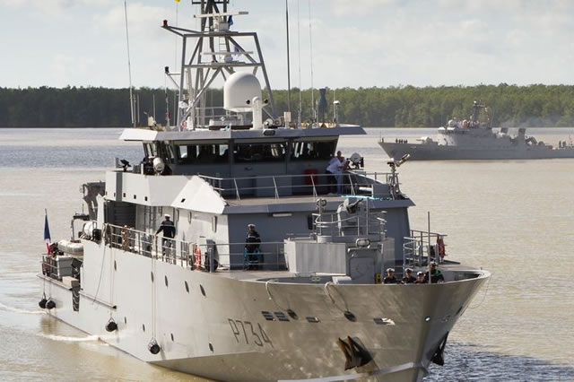 French Navy Guyana based Light Patrol Vessel PLG LaRésolue 1