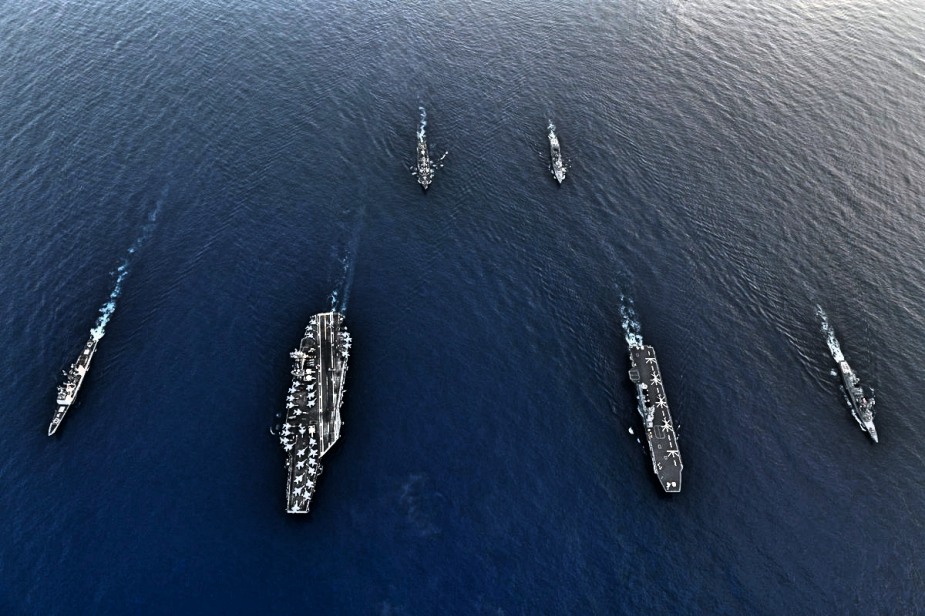 US Navy JMSDF Carriers Participate in Bilateral Training in South China Sea