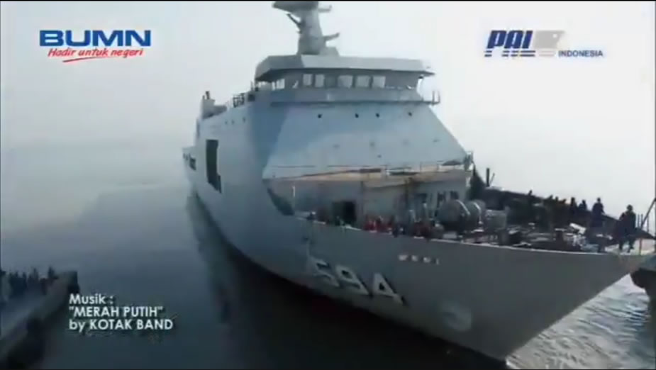 Video PT Pal Launched the 6th LPD for Indonesian Navy TNI AL