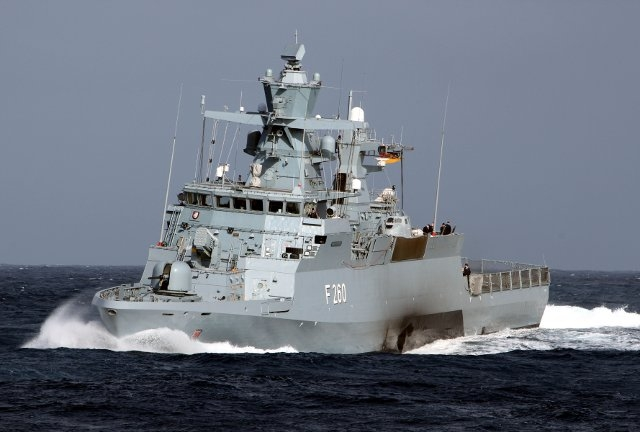 FSG Braunschweig class Corvette K130 German Navy Marine top