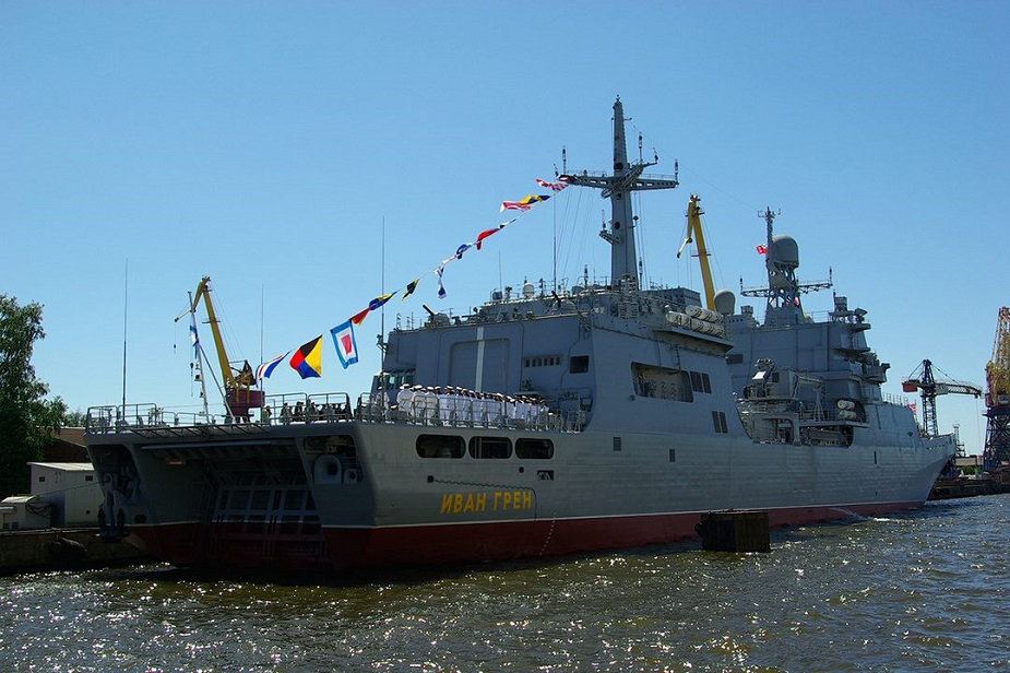 Russias Navy Commissions Amphibious Vessel Ivan Gren at Last