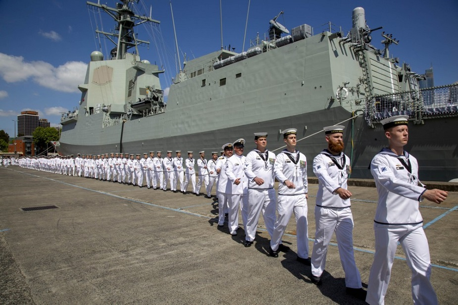 Royal Australian Navy Commissioned the guided missile destroyer HMAS Brisbane