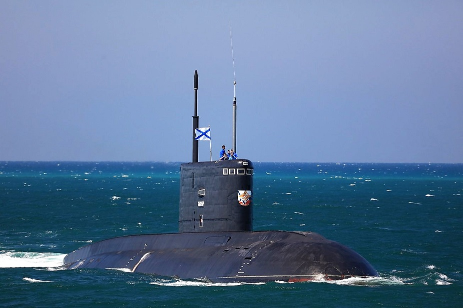 Russian Submarine Krasnodar Hides on Ocean Floor during Black Sea Drills