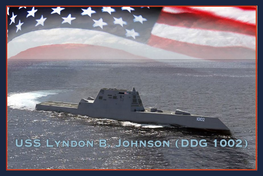 US Navy to christen guided missile destroyer Lyndon B. Johnson