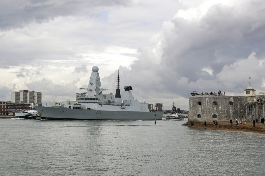 Royal Navy HMS Kent and HMS Defender deploy on operations