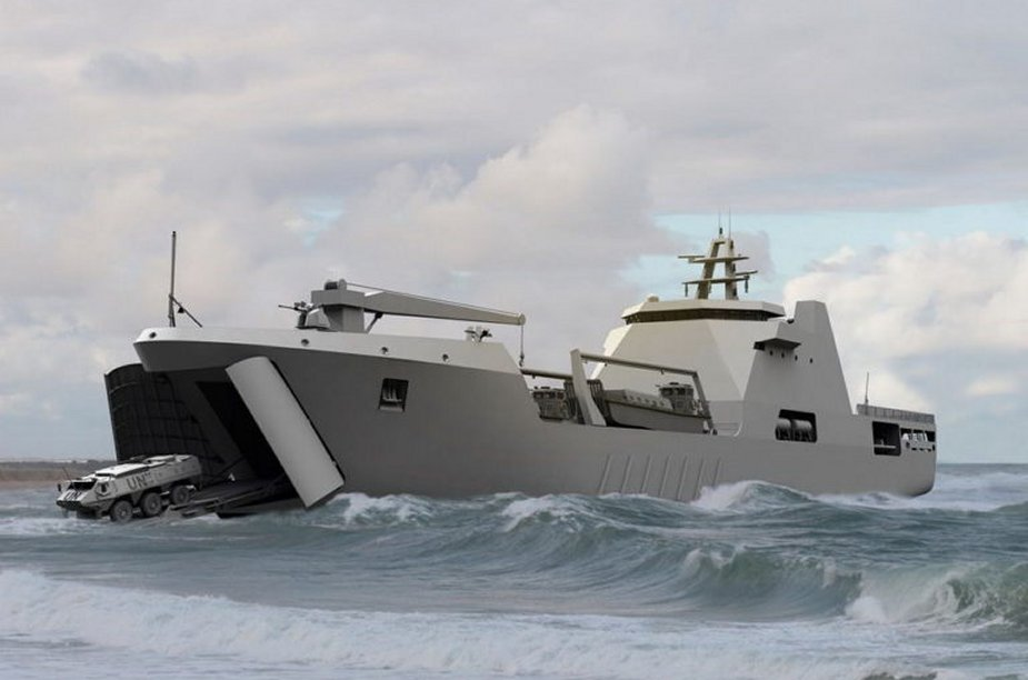 Damen Shipyards building landing ship tank for Nigerian Navy 925 001
